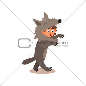 Boy Desguised As Wolf