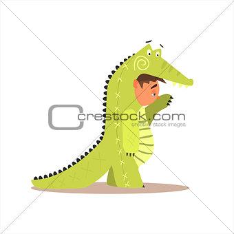 Boy Desguised As Crocodile