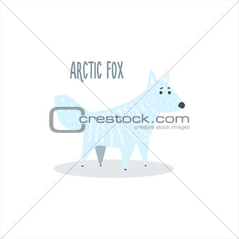 Arctic Fox Vector Illustration