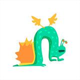 Green Snail Childish Monster