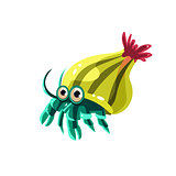 Hermit Crab. Vector Illustration