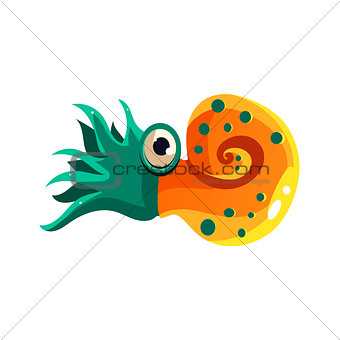 Crustacean. Vector Illustration