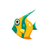 Striped Fish. Vector Illustration