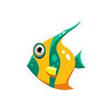 Striped Fish. Vector Illustration