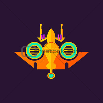 Abstract Colorbul Spaceship