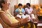 Senior Woman In Hospice Knitting Whool