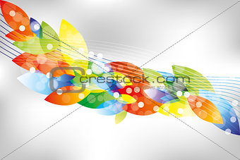 Abstract leafes background