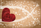 Abstract rose heart background