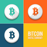 Bitcoin icons set.