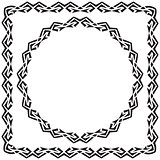 vector illustration. set. square and round decorated frame