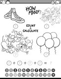 math kids avtivity coloring book