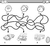 maze activity coloring page