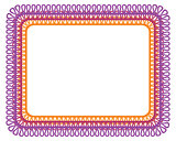 vector decorative frame on white background