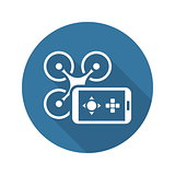 Mobile Gadgets Icon. Flat Design.