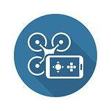 Mobile Gadgets Icon. Flat Design.