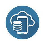 Cloud Storage Icon. Flat Design.