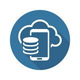 Cloud Storage Icon. Flat Design.