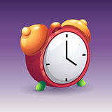 Image of red alarm clock with yelow bells