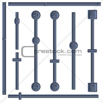 A set of sliders, vector illustration.