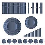 Multimedia set, vector illustration
