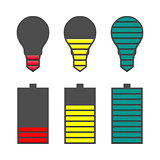 A set of indicators, vector illustration.