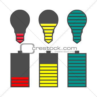 A set of indicators, vector illustration.