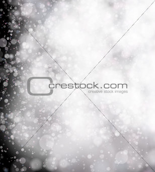 Abstract black soft bokeh background.