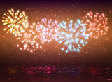 Sparkle colorful fireworks design,