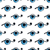seamless pattern with abstract eye. vector