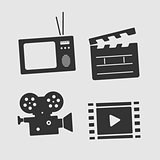 Vector Symbols Set Film and TV