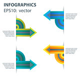 Abstract arrow infographics template