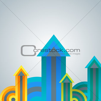 Abstract infographics template with arrows