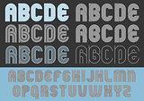 Geometric round lines typeface
