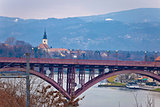 Maribor bridge on Drava river
