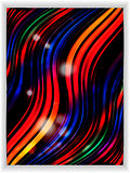 Abstract colourful wave panel