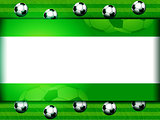 Football soccer panel on green