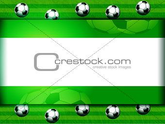 Football soccer panel on green