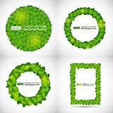 Shiny Natural Leaves Background. Vector Illustration