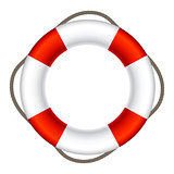 Lifebuoy Sign Symbol Vector Illustration