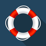 Lifebuoy Sign Symbol Vector Illustration EPS10