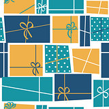 Gift Box Holiday Seamless Pattern Background Vector Illustration