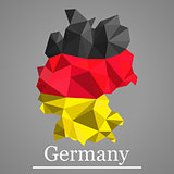 Geometric vector map of Germany