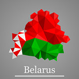 Geometric vector map of  Belarus