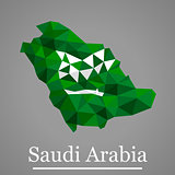 Geometric vector map of Saudi Arabia
