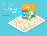 Enjoy our shopping mall. Mobile marketing and personalizing