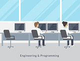 Engineering and programming working process