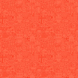 Red Thin Line Construction Seamless Pattern