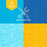 Thin Line Art Construction Pattern Set