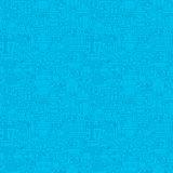Thin Line Blue Construction Seamless Pattern