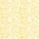 Thin Line Construction White Seamless Pattern